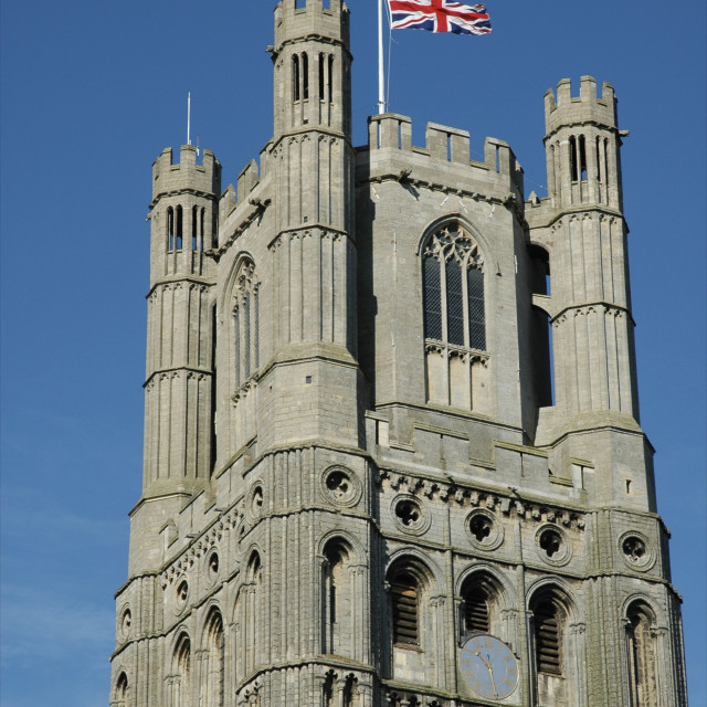 """Union Flag - Ely Cathedral"" stock image"