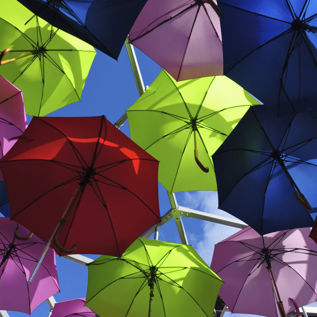 """Umbrellas in the Sky"" stock image"