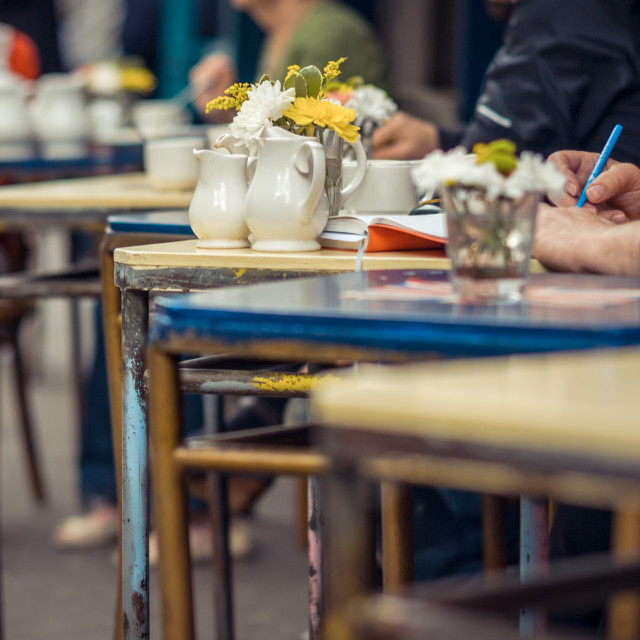 """Cafe table"" stock image"