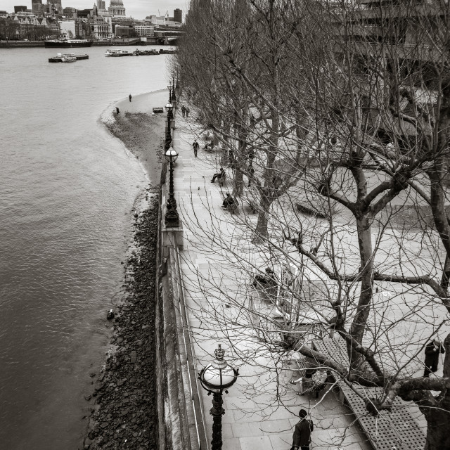 """""""The South Bank"""" stock image"""