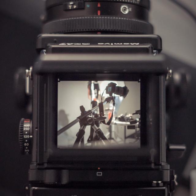 """Through the lens"" stock image"