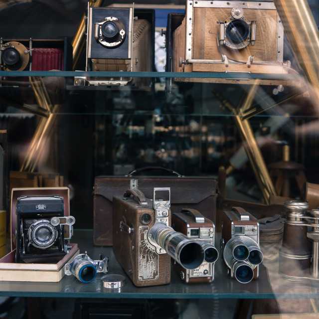 """""""Old cameras"""" stock image"""