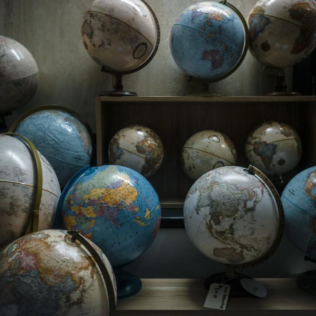 """Globes"" stock image"