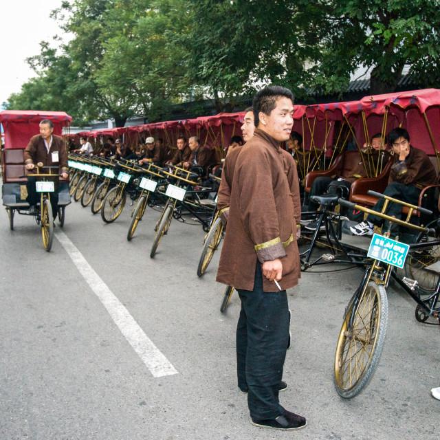 """Trishaw Parking"" stock image"