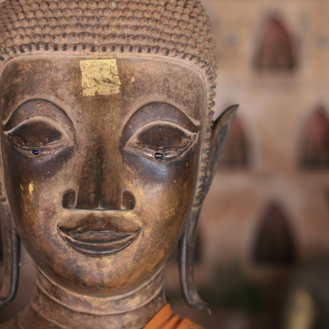 """Buddha in Laos"" stock image"
