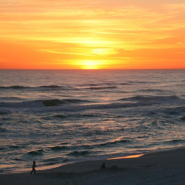 """""""Gulf beach at sunset (1)"""" stock image"""