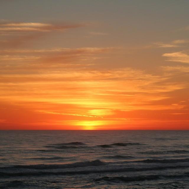 """""""Gulf beach at sunset (2)"""" stock image"""