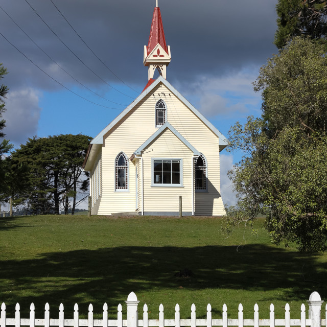 """rural church"" stock image"
