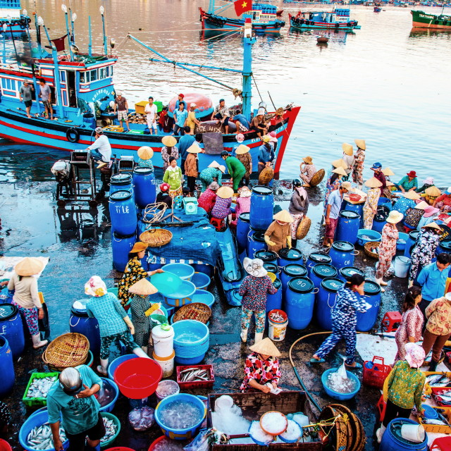 """Fishery market"" stock image"