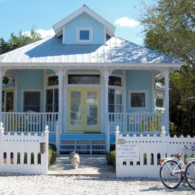 """Cute holiday cottage, Florida"" stock image"