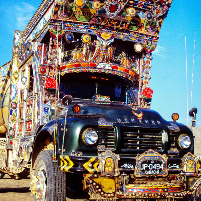 """Decorated Lorry"" stock image"