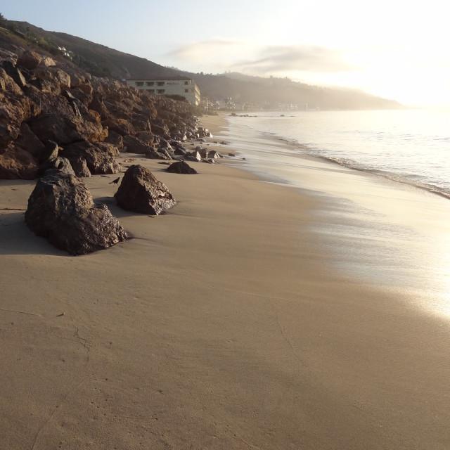 """""""Malibu Dawn"""" stock image"""