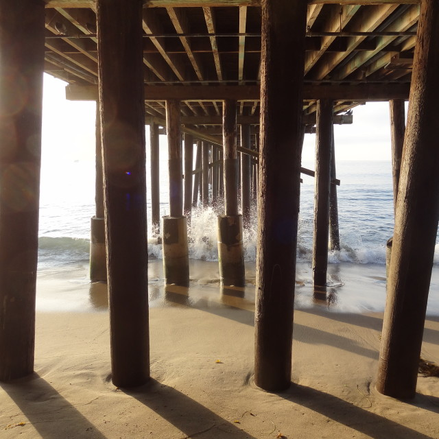 """""""Under the pier"""" stock image"""