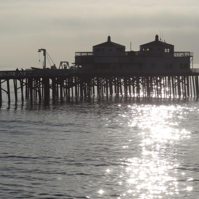 """Malibu Pier"" stock image"