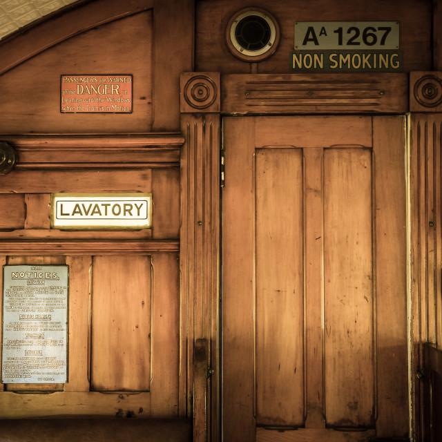 """vintage railway carriage"" stock image"