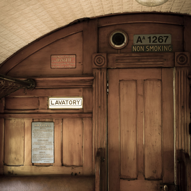 """vintage railway carriage"" stock image"