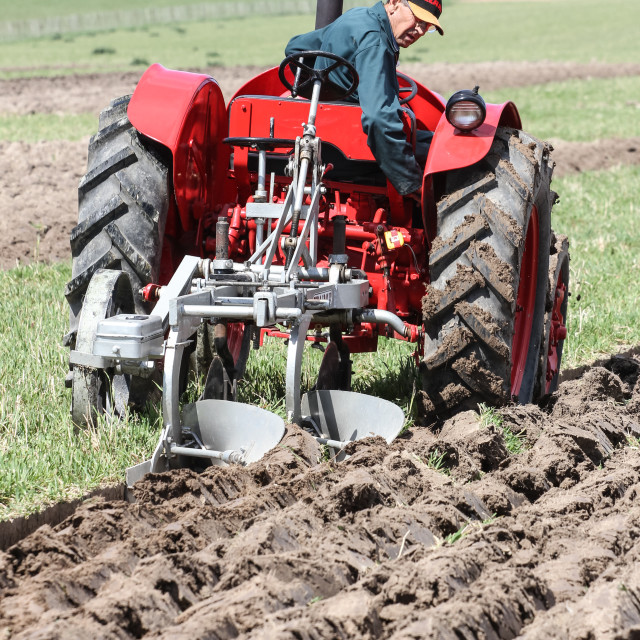 """""""tractor ploughing"""" stock image"""