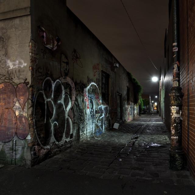 """""""Fitzroy Graffiti"""" stock image"""