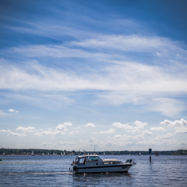 """""""Boat with clouds"""" stock image"""