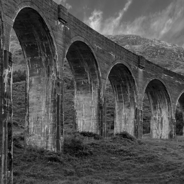 """Glenfinnan Viaduct"" stock image"