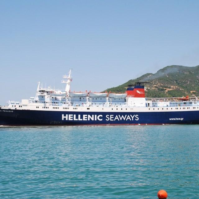 """Express Pegasus, Skopelos"" stock image"