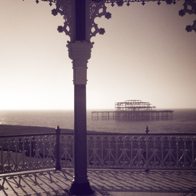"""Brighton Bandstand IV"" stock image"