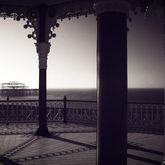 """""""Brighton Bandstand III"""" stock image"""