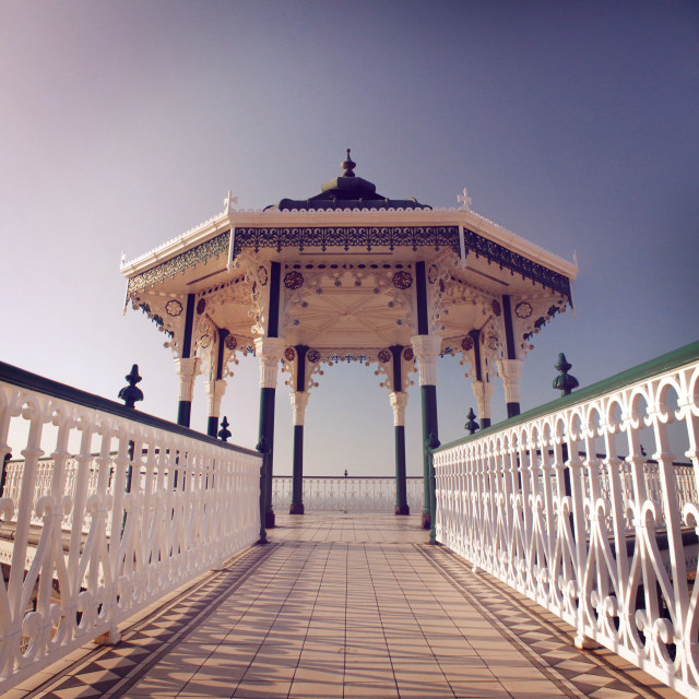 """Brighton Bandstand I"" stock image"