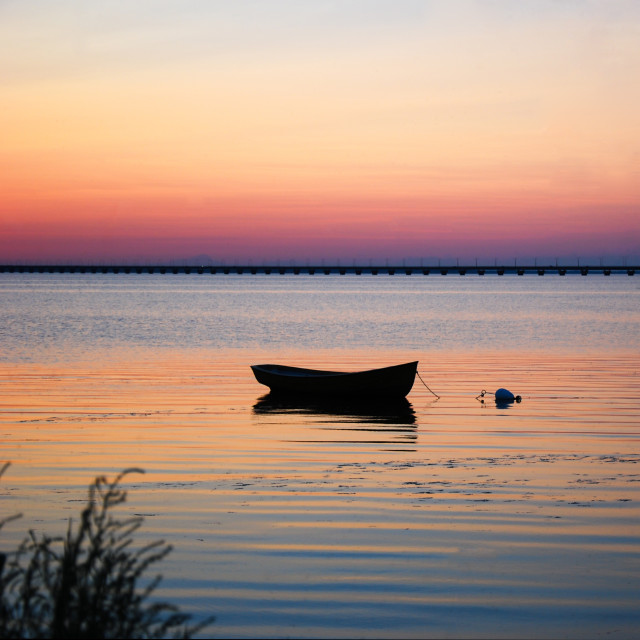 """Lone rowboat"" stock image"