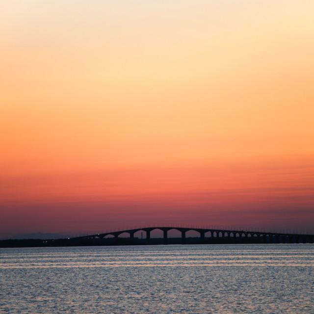 """Sunset at the bridge"" stock image"