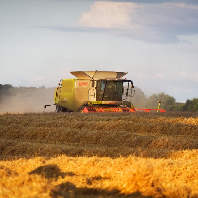 """Claas Yorkshire Harvest 2014"" stock image"