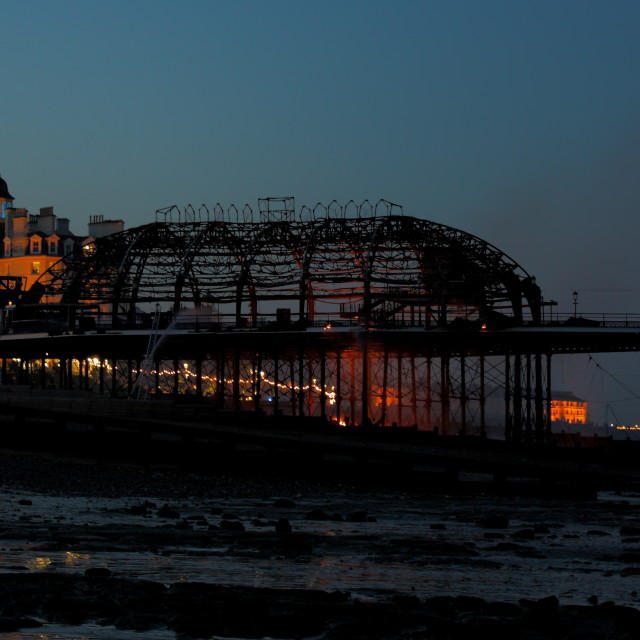 """Eastbourne Pier Fire"" stock image"