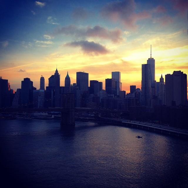 """New York Sunset"" stock image"