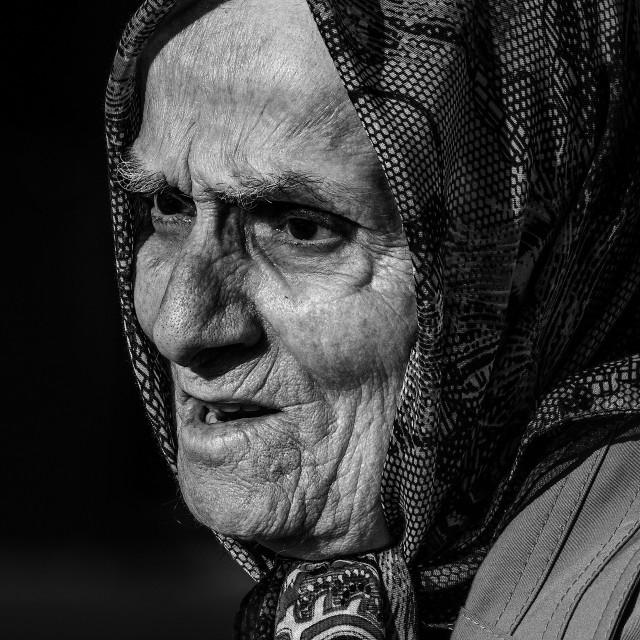 """""""Turkish Elderly Lady"""" stock image"""