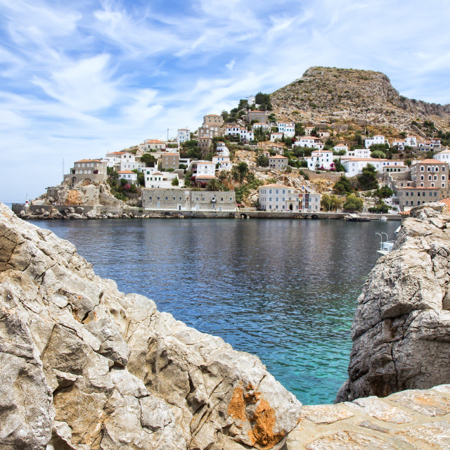 """Hydra island in Greece"" stock image"