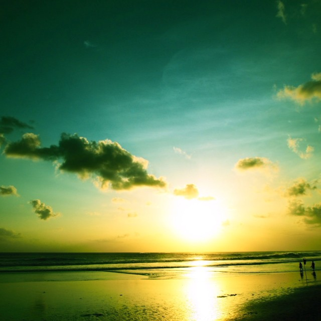 """Sunset in Seminyak"" stock image"
