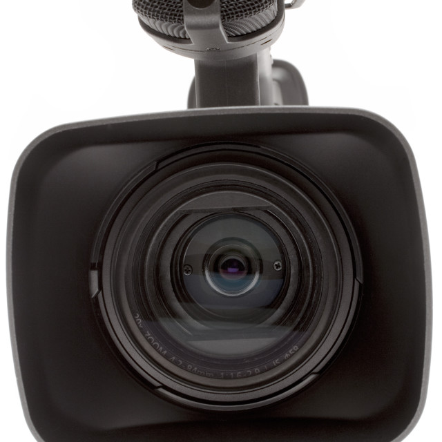 """""""Digital Video Camera Close Front View"""" stock image"""