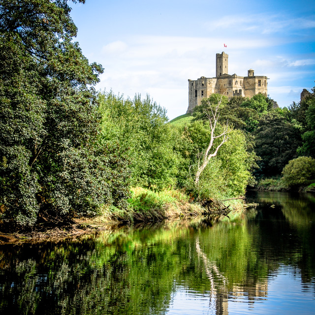 """Castle across the river"" stock image"
