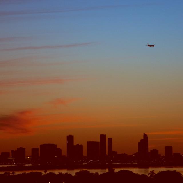 """Urban sunset"" stock image"