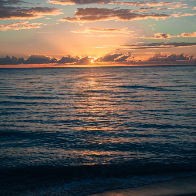 """""""Sunrise at Miami"""" stock image"""