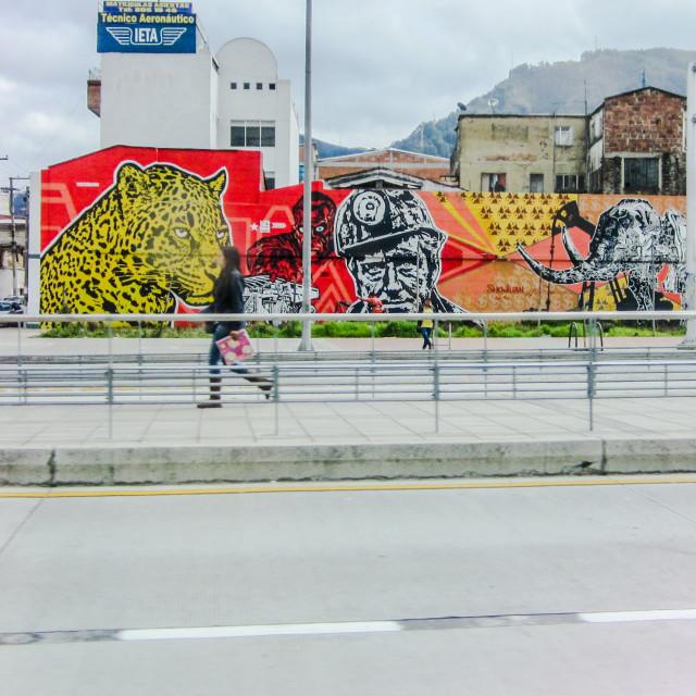 """Streets of Bogotá"" stock image"