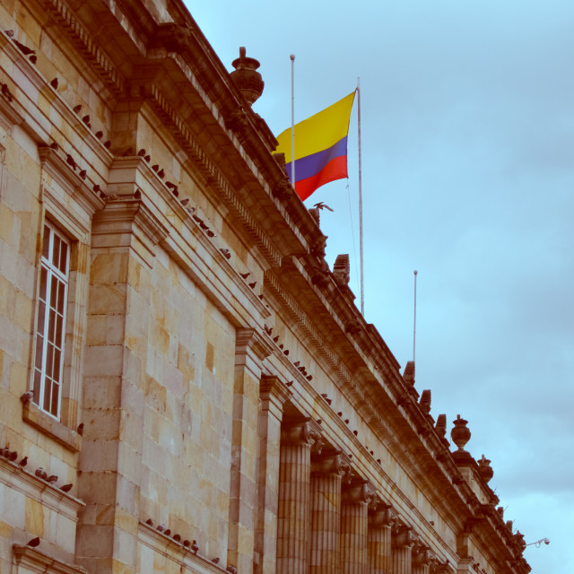 """Colombia flag"" stock image"