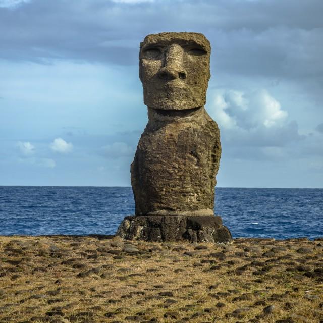 """""""Easter Island Moai"""" stock image"""