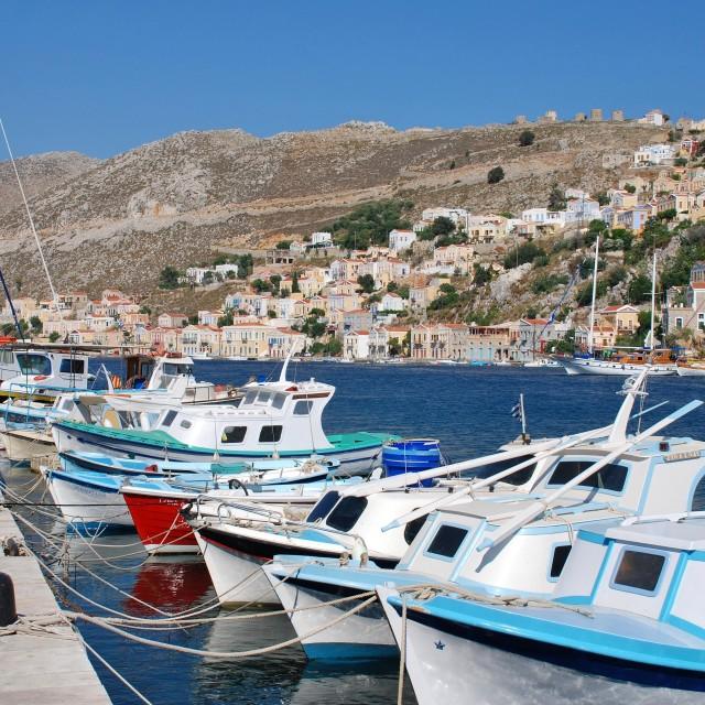 """Yialos, Symi island"" stock image"