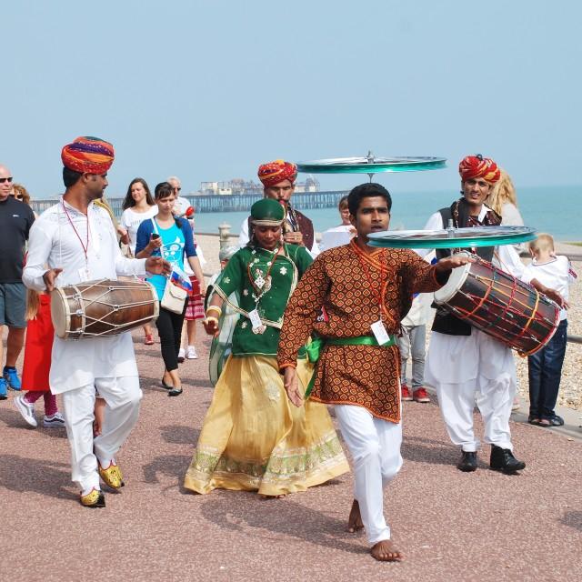 """Musafir Gypsies, St.Leonards Festival"" stock image"