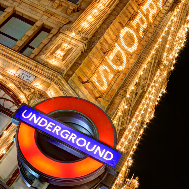 """The Underground At Harrods"" stock image"