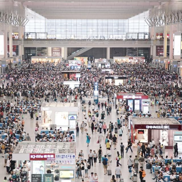 """Shanghai Hongqiao Railway Station"" stock image"