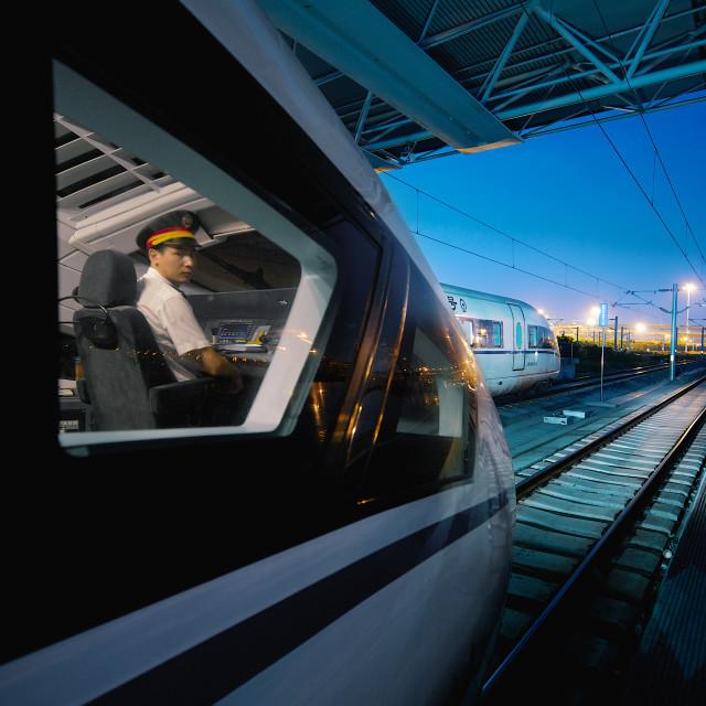 """""""train driver"""" stock image"""