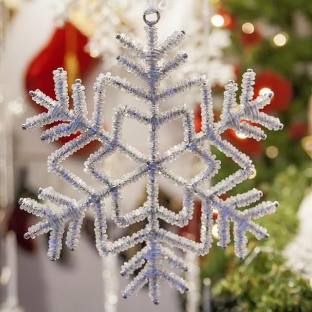 """""""Christmas Snowflake Ornament"""" stock image"""