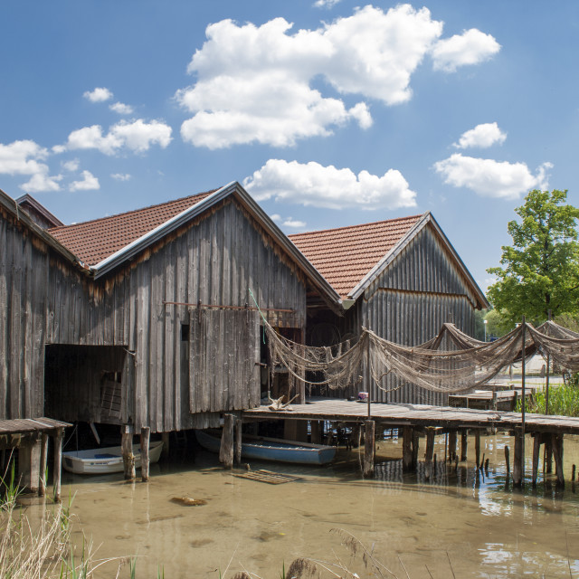"""Fishing Huts"" stock image"